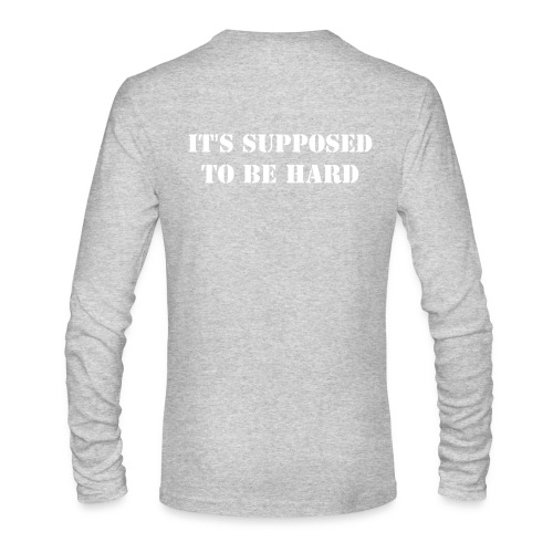 Hard Men's  - Men's Long Sleeve T-Shirt by Next Level