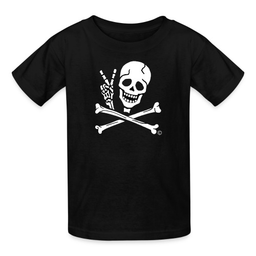 Kids Peace Sign Pirate Tee - Kids' T-Shirt