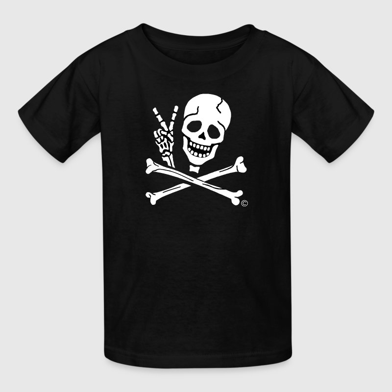 Kids Peace Sign Pirate Tee - Kids' T-Shirt