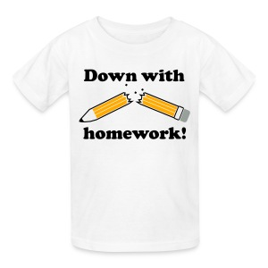 Homework T-Shirt - Kids' T-Shirt
