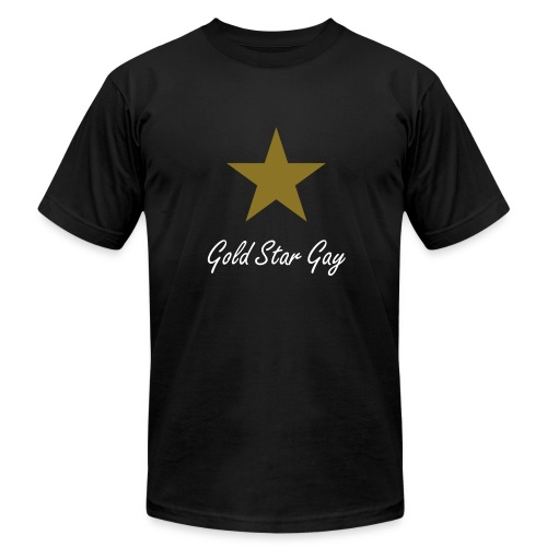 Gold Star Gay T-Shirt with Metallic Star - Men's  Jersey T-Shirt