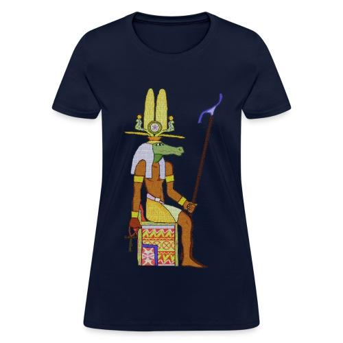 Egyptian Crocodile Sobek Mosaic - Women's T-Shirt