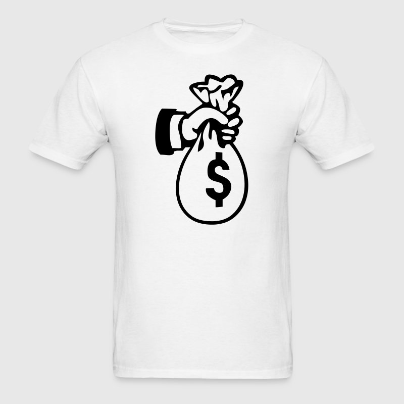Bag Money Cash Dollar 1c - Men's T-Shirt