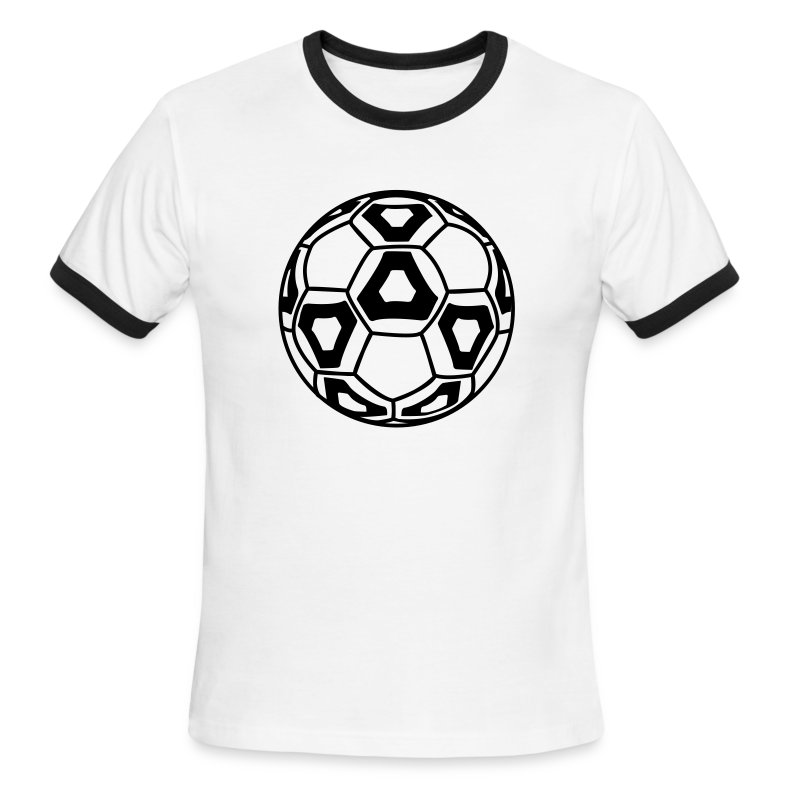 cool new professional soccer ball design mens ringer t shirt