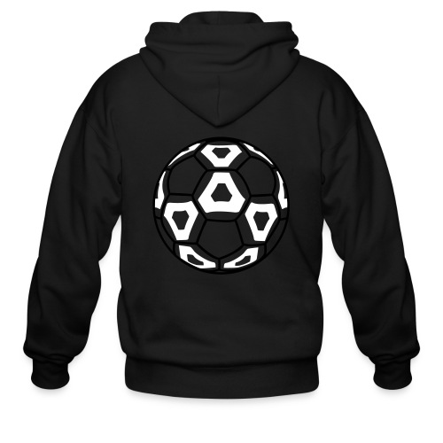 Professional Soccer Ball Graphic - Men's Zip Hoodie