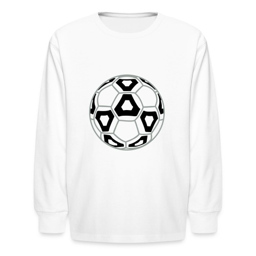 Professional Soccer Ball Graphic - Kids' Long Sleeve T-Shirt