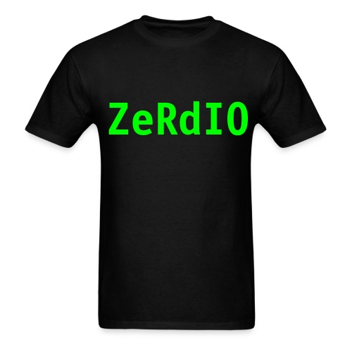 Black Zerdio Tee - Men's T-Shirt