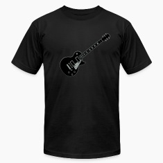 Black Guitar Les Paul T-Shirts