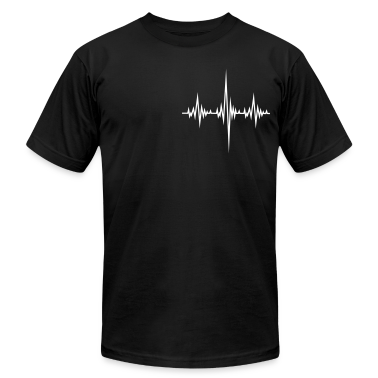 Black Frequency Beat T-Shirts