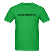 T-Shirts ~ Men's T-Shirt ~ apt-get install girlfriend (on Light)