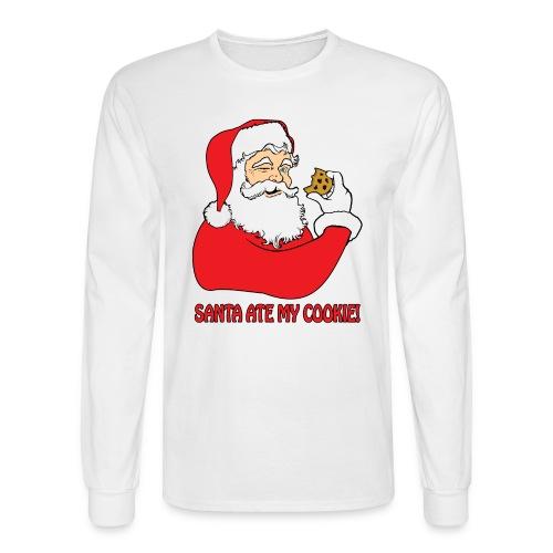 Santa Ate My Cookie (Men) - Men's Long Sleeve T-Shirt