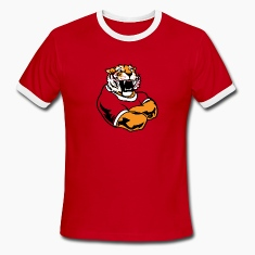 Red/white Cool Custom Tiger Macot T-Shirts