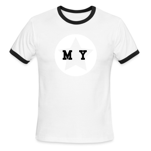 My Star Ribbon T - Men's Ringer T-Shirt