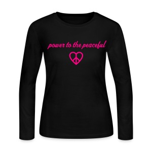 Peace - Women's Long Sleeve Jersey T-Shirt