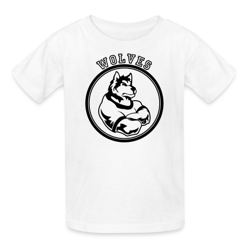 Custom Wolf or Wolves Team Graphic - Kids' T-Shirt