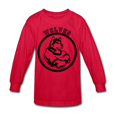 Red Wolf or wolves Custom Teams Graphic Kids' Shirts