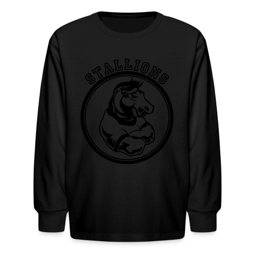 Custom Stallions Team Graphic - Kids' Long Sleeve T-Shirt