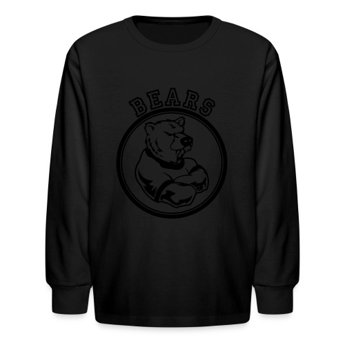 Custom Bears Team Graphic - Kids' Long Sleeve T-Shirt