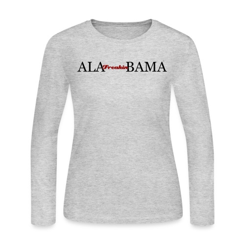 Women's AFB Long Sleeve JerseyTee - Gray - Women's Long Sleeve Jersey T-Shirt