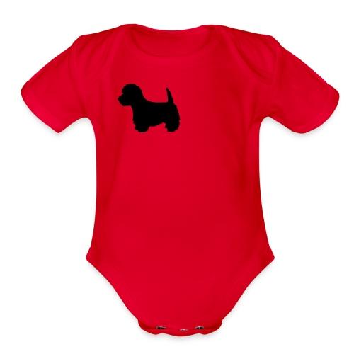 My baby is almost as cute as my Westie - Organic Short Sleeve Baby Bodysuit