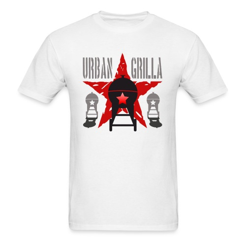 Urban Grilla BBQ, barbecue chef / cook 1 - Men's T-Shirt