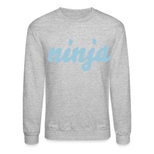 ninja | light blue text - Crewneck Sweatshirt