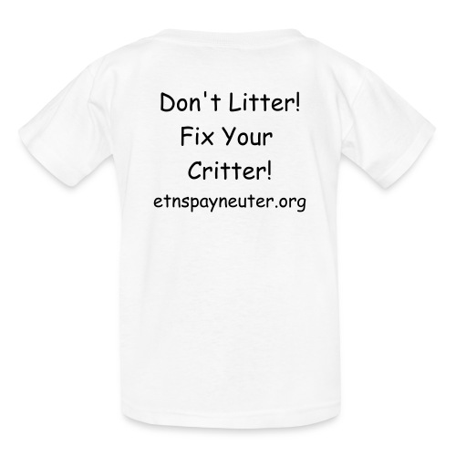 Don't Litter! Fix Your Critter Kid's T-shirt - Kids' T-Shirt
