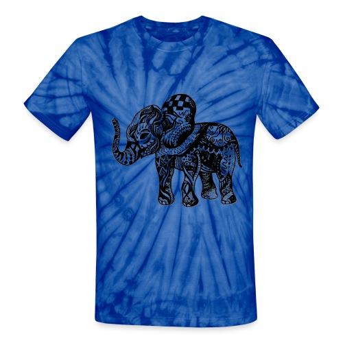 Cute Elephant Tie Dye Tee - Unisex Tie Dye T-Shirt