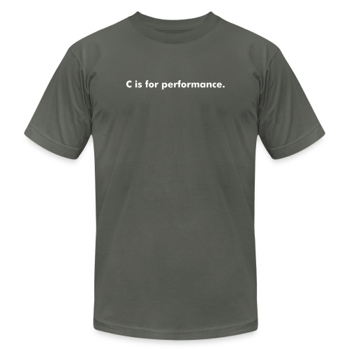 C is for performance - Men's Fine Jersey T-Shirt