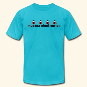 Música Electrónica - Men's T-Shirt by American Apparel