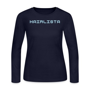 Navy & Baby Blue Length Shirt SL + - Women's Long Sleeve Jersey T-Shirt