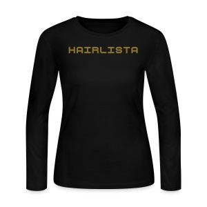 Black & Gold Length Shirt SL + - Women's Long Sleeve Jersey T-Shirt