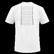 T-Shirts ~ Men's T-Shirt by American Apparel ~ Men White & Black Length Shirt SL +