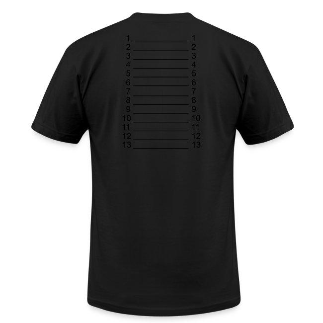 Men White & Black Length Shirt SL +
