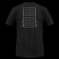 T-Shirts ~ Men's T-Shirt by American Apparel ~ Men Black & White Length Shirt SL +