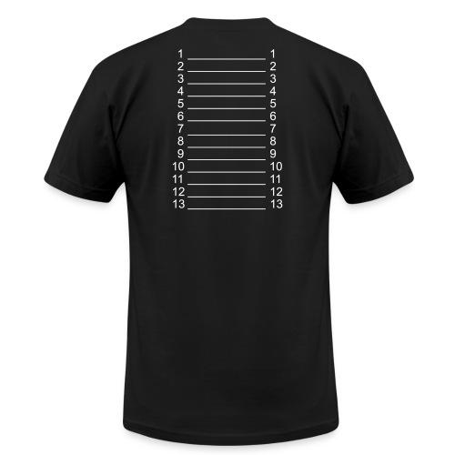 Men Black & White Length Shirt SL + - Men's Fine Jersey T-Shirt