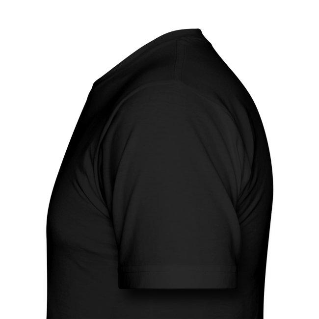 Men Black & White Length Shirt SL +