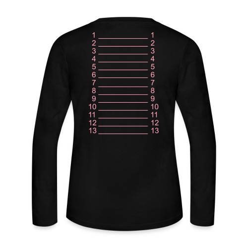 Black & Pink Length Shirt SL + - Women's Long Sleeve Jersey T-Shirt