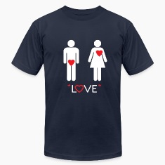 Love - Funny Man Heart in Pants T-Shirts