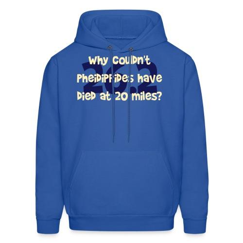 Pheidippides Marathon Men's Blue Hoodie - Men's Hoodie