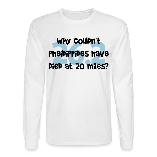 Pheidippides Marathon Men's White Long Sleeve Tee - Men's Long Sleeve T-Shirt