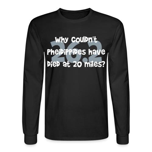 Pheidippides Marathon Men's Black Long Sleeve Tee - Men's Long Sleeve T-Shirt