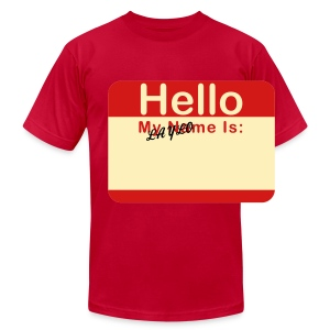 eggplant name tag laylo - Men's Fine Jersey T-Shirt