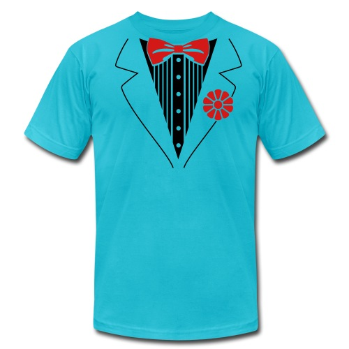 tux blue laylo - Men's Fine Jersey T-Shirt