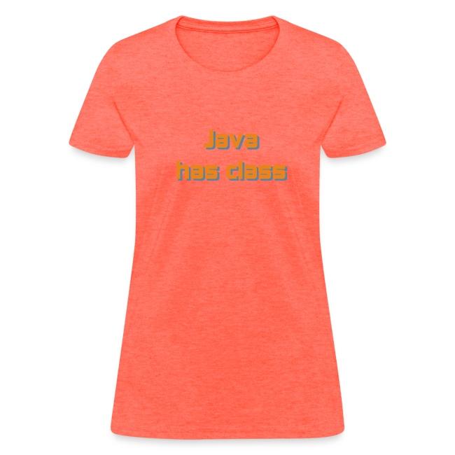 Java has class