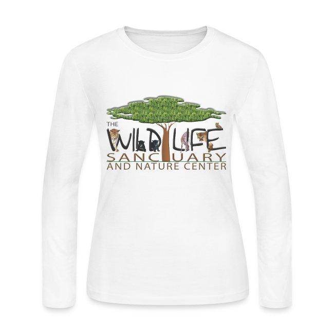 Womens Long Sleeve Jersey T with Logo front