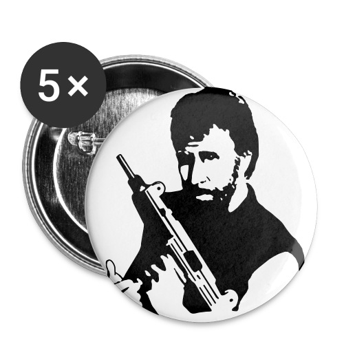 Chuck Norris Button - Buttons large 2.2'' (5-pack)