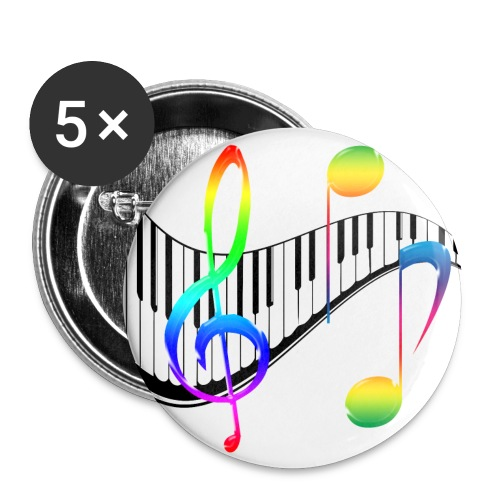Music Rainbow Buttons (small) - Small Buttons