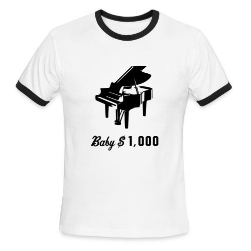 Baby $1,000 - Men's Ringer T-Shirt