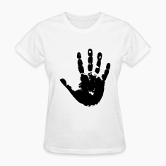White handprint Women's T-Shirts